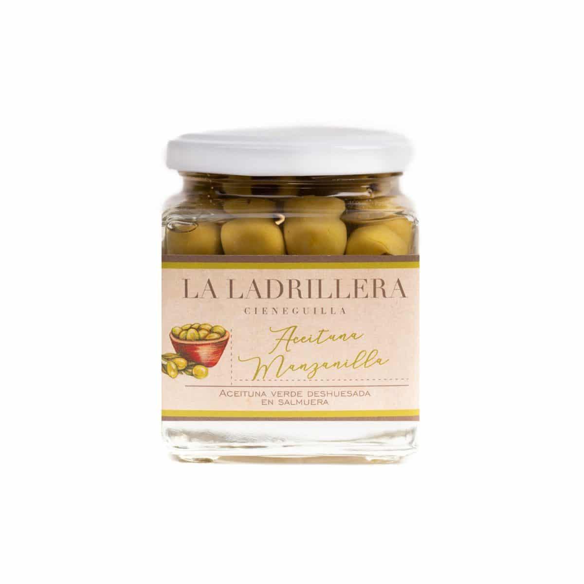 Aceituna manzanilla deshuesada de 100 gr