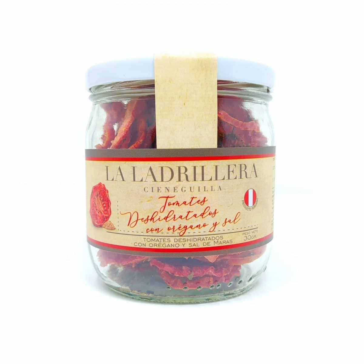 tomate deshidratado con oregano y sal